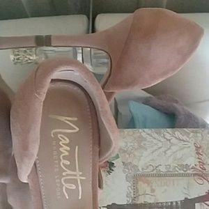 Nanette Lepore Shoes - Nanette LePore Leather Suede Shoes blush NWOT